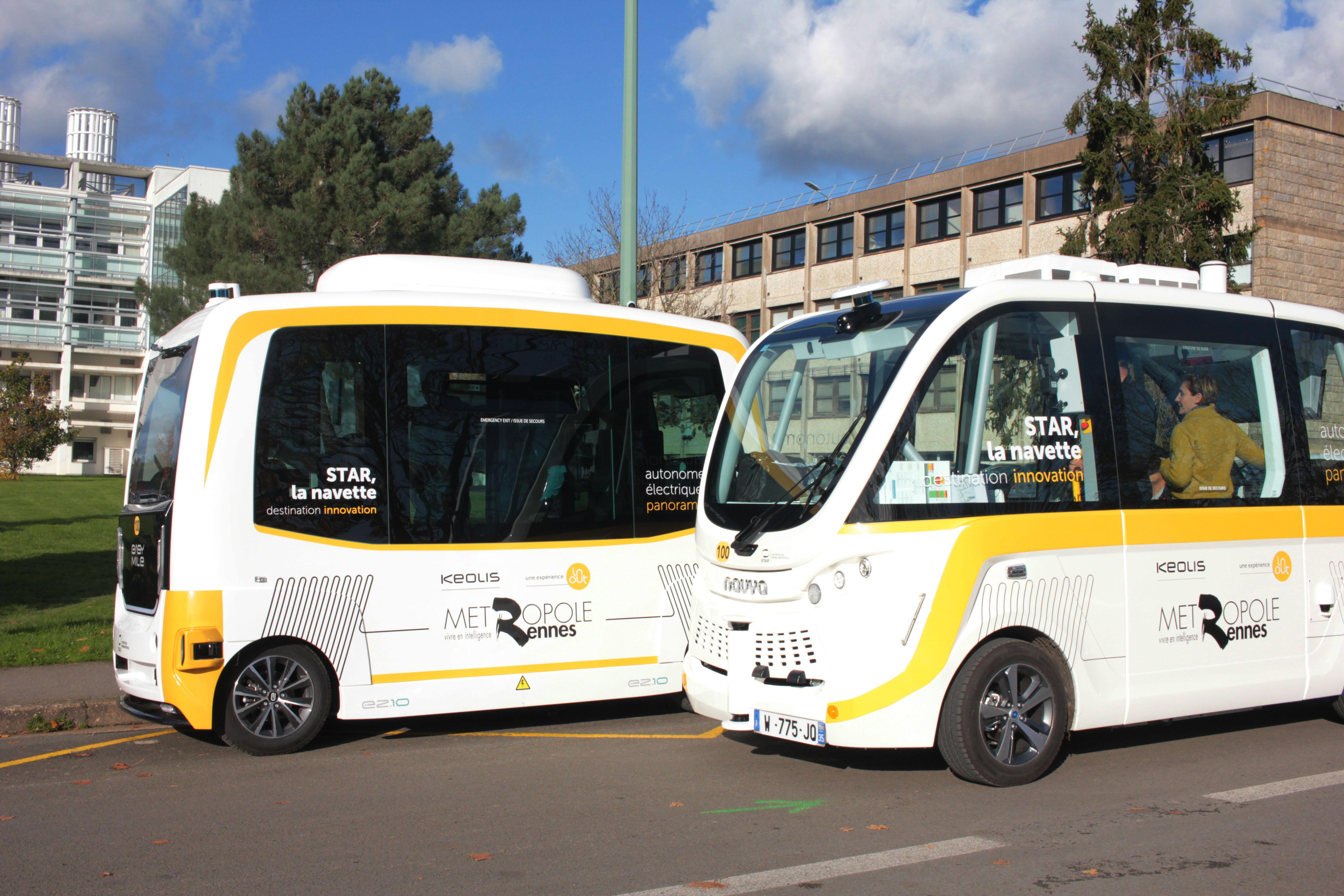تكنولوجيا تنقل المستقبل - بالتعاون مع مدينة (Rennes) الفرنسية باصات Keolis ذاتية القيادة تبدأ فى العمل رسمياً هذا الشهر