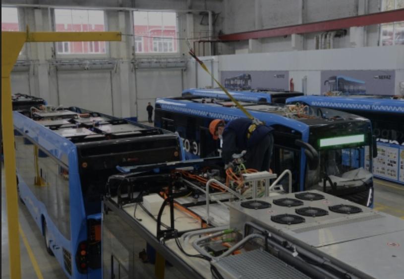 KAMAZ الروسية تقوم بإنشاء خط تجميع للاتوبيسات  الكهربائية بطاقة 500اتوبيس
