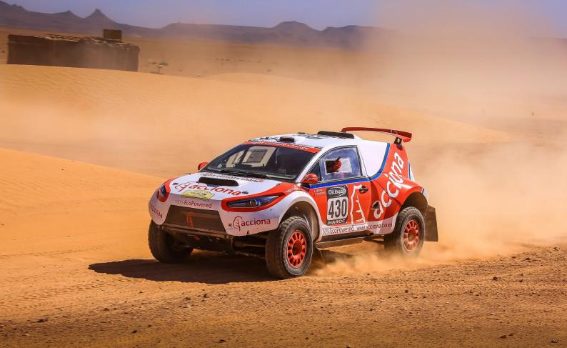 رقم قياسي جديد لسيارة رالي كهربائية في رالي باها أبوظبي
